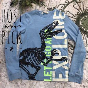 [H&M] Long Sleeve Dinosaur Tee Size 8-10Y